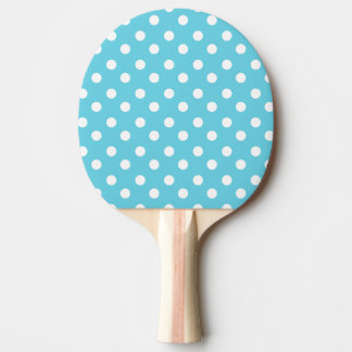 Blue and White Polka Dots Pattern Gifts Ping-Pong Paddle