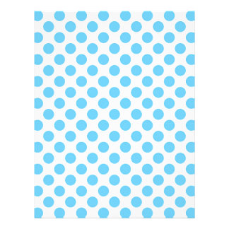 Blue and white polka dots pattern letterhead