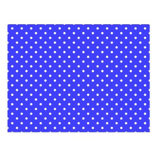 Blue and White Polka Dots Postcard