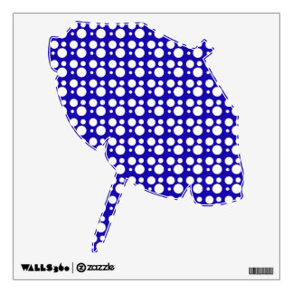 blue and white polka dots wall decal