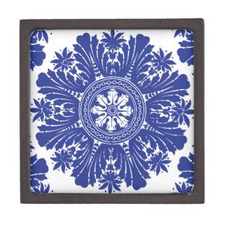 Blue and White Porcelain Baroque Premium Jewelry Box