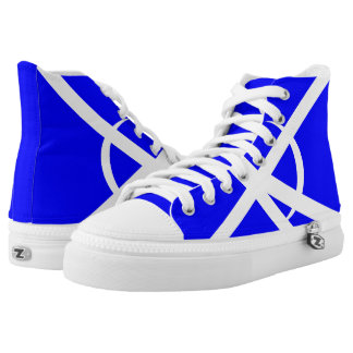 Blue and White Portal Hi-Top Template