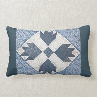 White Quilted Decorative Pillows : Blue White Quilt Pillows - Decorative & Throw Pillows Zazzle