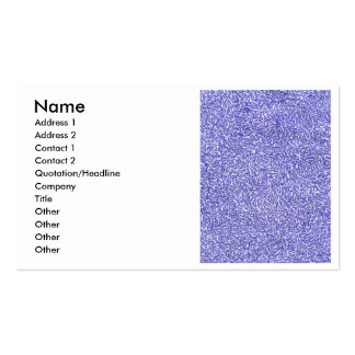 Blue and White random background pattern Double-Sided Standard Business Cards (Pack Of 100)