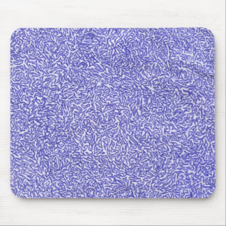 Blue and White random background pattern Mouse Pads