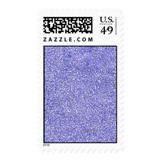 Blue and White random background pattern Postage Stamps
