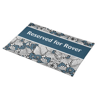 Blue and White Retro Reserved for Cloth Placemat