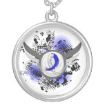 Blue And White Ribbon And Wings ALS Jewelry