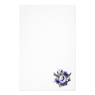 Blue And White Ribbon And Wings ALS Stationery Design