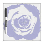 Blue-and-white Rose graphic Dry Erase Boards