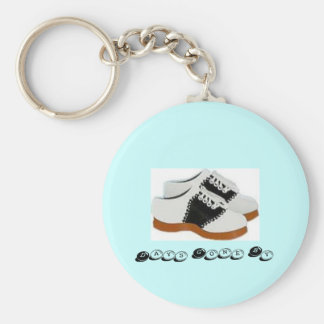 Blue and White Saddle Shoes-Days Gone By Keychain