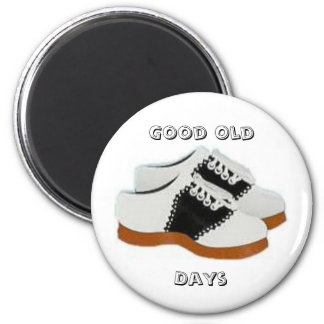 Blue and White Saddle Shoes, Good Old, Days 2 Inch Round Magnet