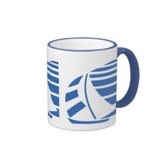 Blue and White Sailboat Coffee Mug