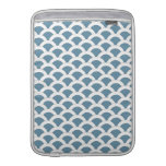 Blue and White Scalloped Shells Pattern Sleeves For MacBook Air