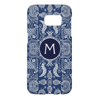 Blue And White Scandinavian Folk Design Samsung Galaxy S7 Case