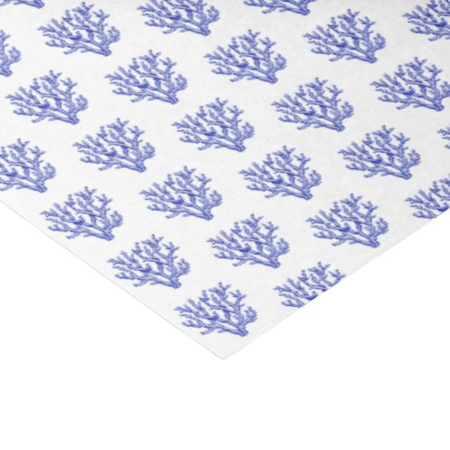Blue and white sea coral tissue paper