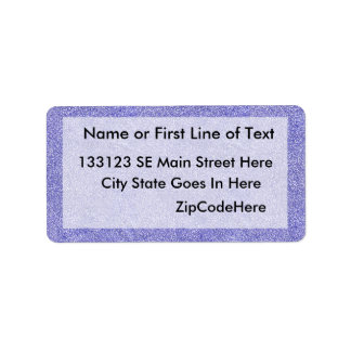 Blue and white security type background image personalized address label