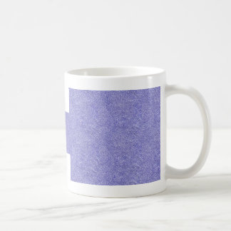 Blue and white security type background image coffee mug