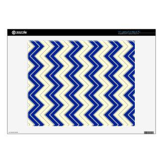 "Blue and White Sideways Chevron Skin For 14"" Laptop"