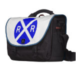 Blue And White Sign Bag For Laptop