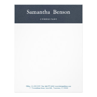 Blue and White Simple Modern Minimalist Letterhead