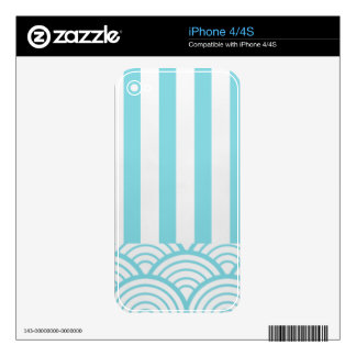 Blue and White Skins For The iPhone 4S