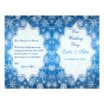 Blue and White Snow Flakes Wedding Program Custom Flyer
