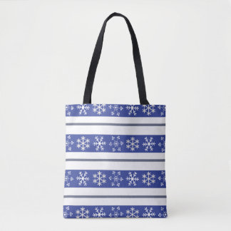 Blue and White Snowflake Tote #HolidayZ