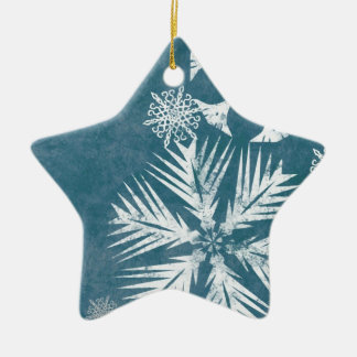Blue and White Snowflakes Christmas Ornaments