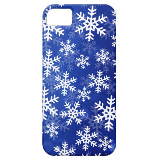 Blue and White Snowflakes iPhone SE/5/5s Case