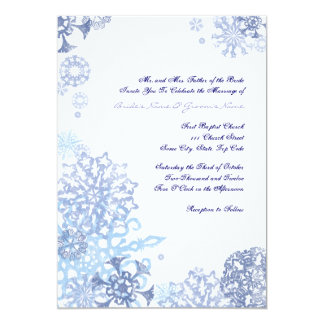 Blue and White Snowflakes Wedding Invitation 3