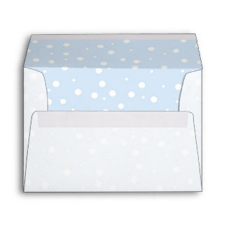 Blue and White Snowy Background Envelope