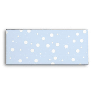 Blue and White Snowy Background Envelopes