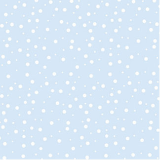 Blue and White Snowy Background Cut Outs