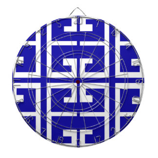 Blue and White Spanish Tile Dartboards