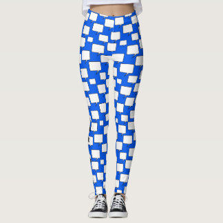 Blue and White Speech Bubble Blah, Blah, Blah Leggings