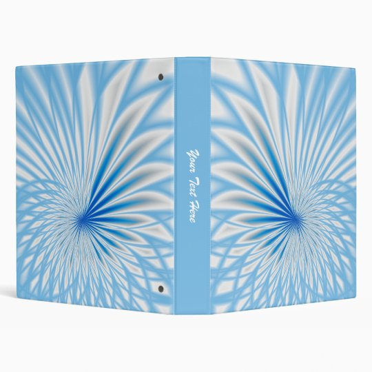 blue and white spiral 1 inch binder template zazzle com