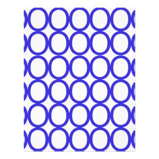 Blue and White Splash of O's Letterhead
