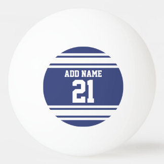 Blue and White Sports Jersey Custom Name Number Ping-Pong Ball