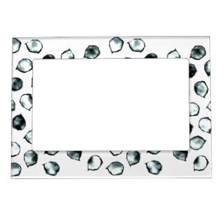 Blue And White Spots Magnetic Frame