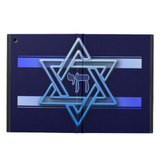 Blue and White Star of David Cover For iPad Air