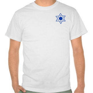 Blue and White Star of David T Shirt