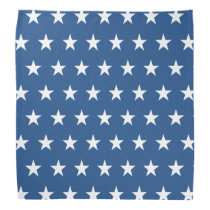 Blue and White Star Pattern Bandana