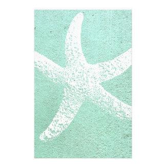 Blue and White Starfish Stationary Stationery