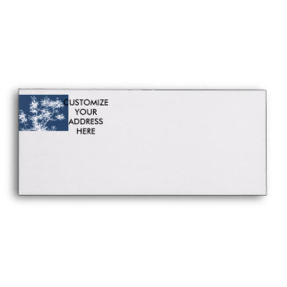 Blue and white stark leaves graphic cutout envelope