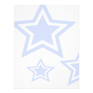 "Blue And White Stars 8.5"" x 11"" Paper"