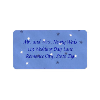 Blue and White Stars Custom Address Labels