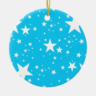 Blue and White Stars pattern Ceramic Ornament