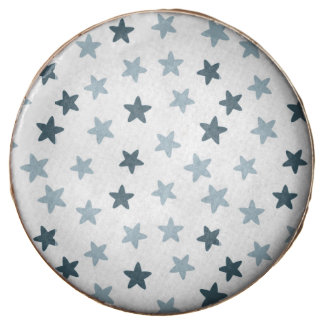 Blue and White Stars Chocolate Covered Oreo