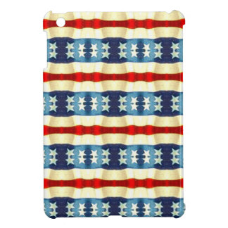 BLUE AND WHITE STARS VINTAGE PATTERN iPad MINI CASES